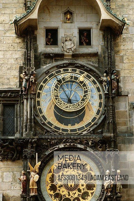 Prague. Czech Republic. Astronomical Clock on Old Town Square.