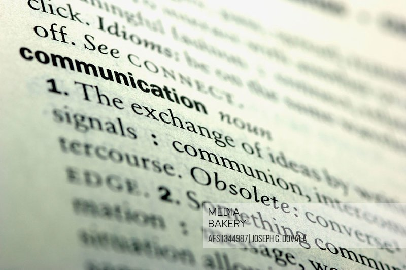 Dictionary communication.