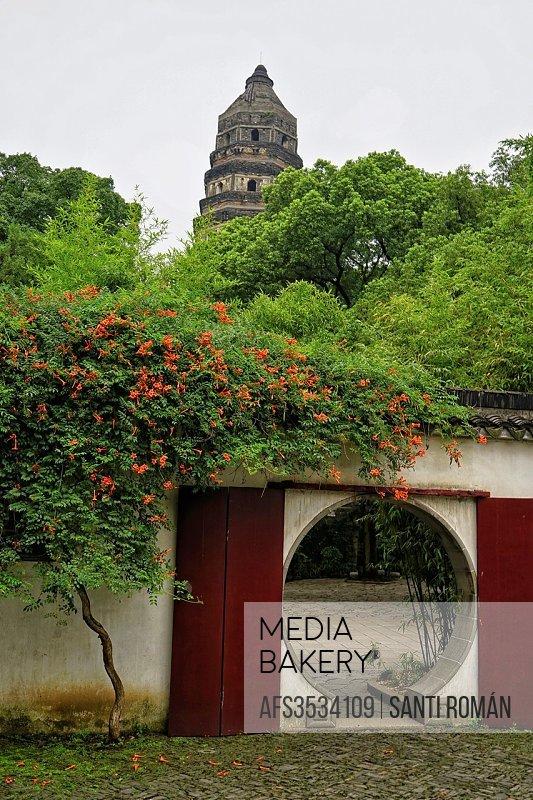 Cloud rock pagoda Yunyanta, tiger hill Huqiu, Suzhou, China.