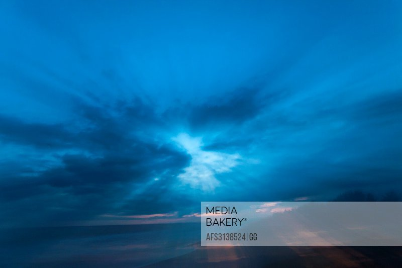 Guatemala, blurred motion sunset