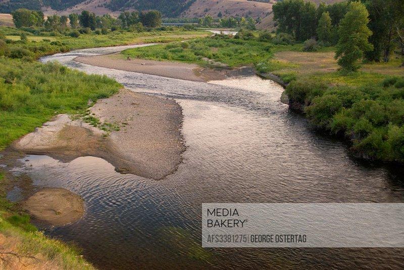 Clark Fork River, Bearmouth Fishing Access Site, Montana.
