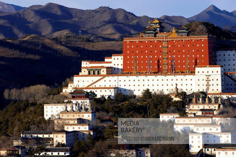 China, Hebei Chengde, summer residence of the Manchu Emperors of the early Qing Dynasty, Zongcheng Putuo temple built between 1767 and 1771 during the...