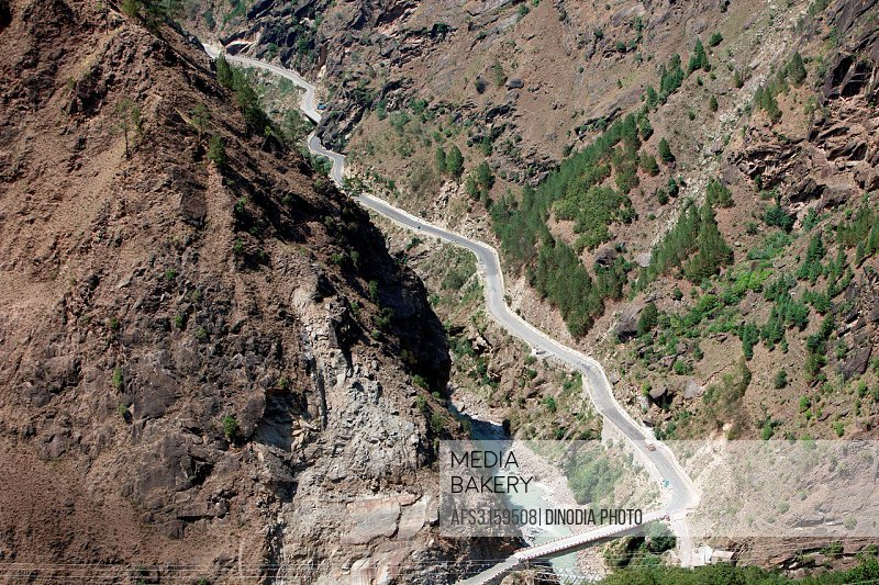 Roads at Joshimath Uttarakhand India Asia