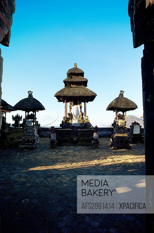 The Ulun Danu Batur Temple on Mount Batur, the central and core temple of all water temples in Bali