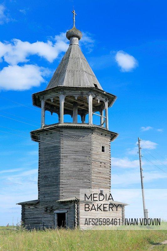 Bell tower 1783, Chukhcherema, Archangelsk Arkhangelsk region, Russia
