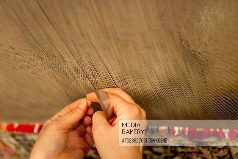 carpet weaving, istanbul