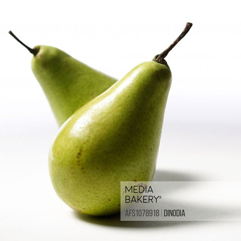 Pair of pear fruit.