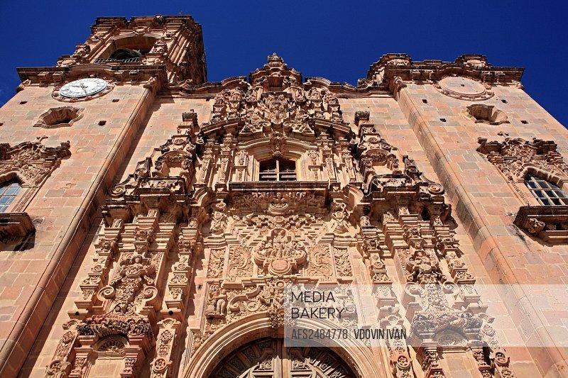 San Cayetano church, 1788, Mineral de Valenciana, state Guanajuato, Mexico