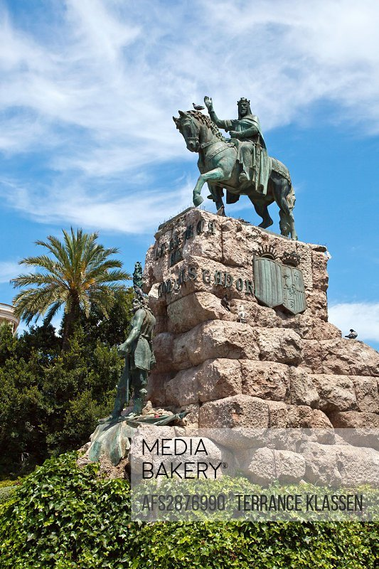 Monument of Conquistador in Palma de Mallorca, Spain