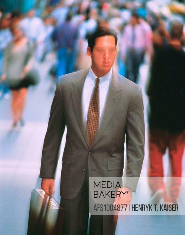 Blurred businessman