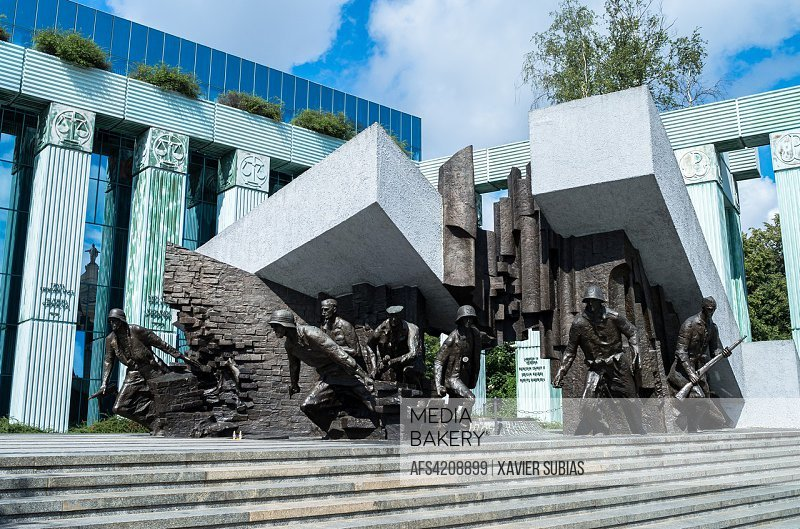 Heroes of the Warsaw Uprising Monument, Warsaw, Poland.