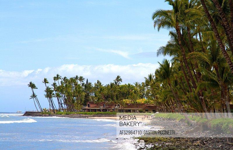 Beach in Hana cost, Maui Island, Hawaii, USA