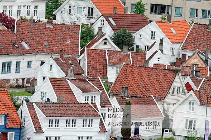 Wooden houses in Gamle Stavanger, Rogaland County, Norway