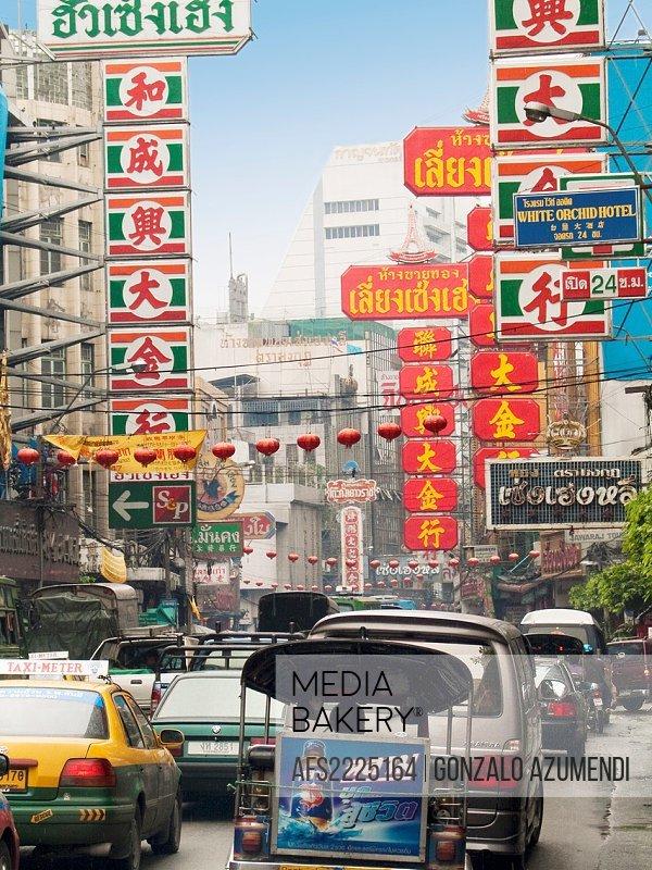 Chinatown  Bangkok, Thailand, Southeast Asia, Asia.