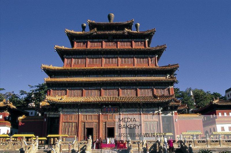 Architecture, Asia, Chengde, China, Chinese, Hebei, Heritage, Historical, Holiday, Landmark, Pagoda, Province, Puning si, Religi