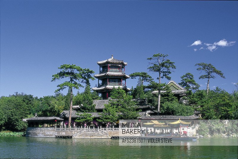 Architecture, Asia, Bishu shanzhuang, Boat, Chengde, China, Chinese, Hebei, Heritage, Historical, Holiday, Imperial, Jin, Lake,