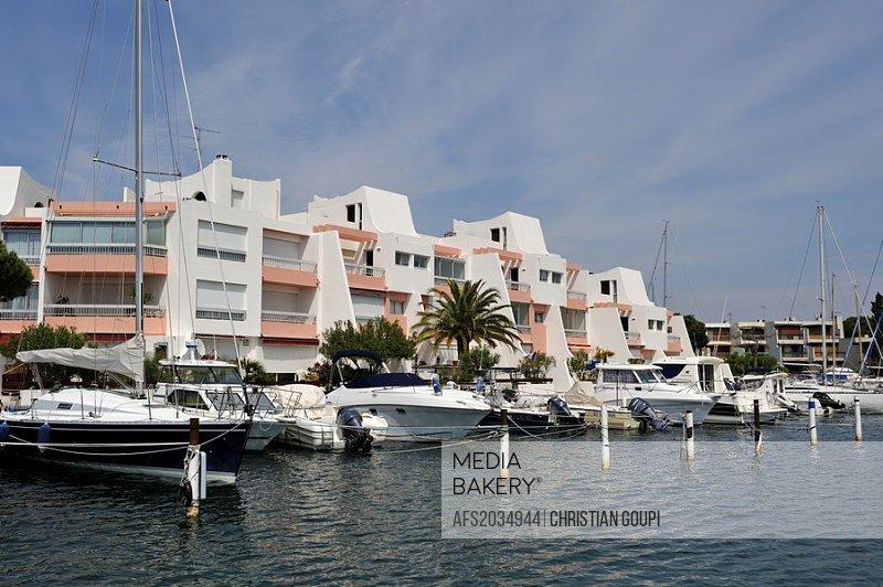 boating marina, Port-Camargue, Grau du Roi, Gard department, France, Europe