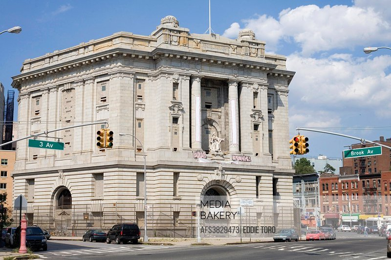 Abandoned Bronx Borough Courthouse in the County of the Bronx, New York. Brook Avenue and 161st street.
