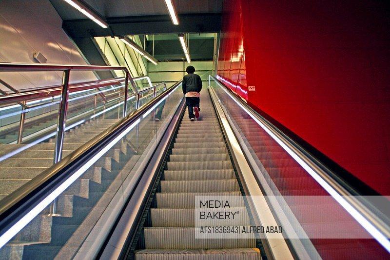 Trinitat Nova underground station, Barcelona, Catalonia, Spain.
