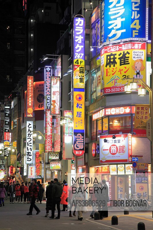 Japan, Tokyo, Shinjuku, Kabukicho, entertainment district, nighlife,.