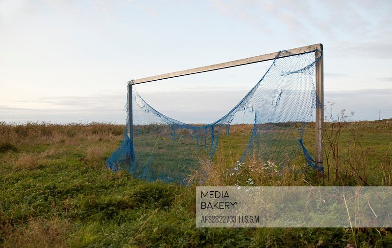 Lonely football goal