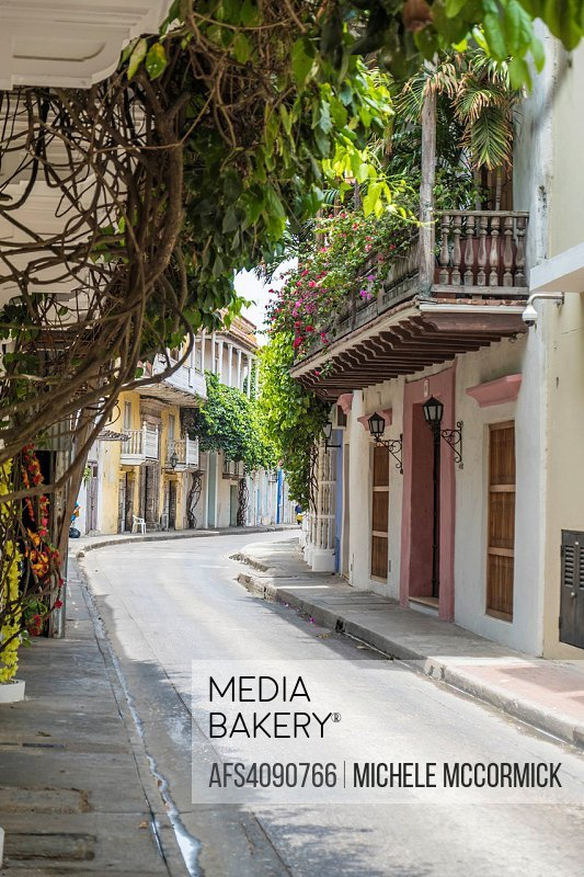 A side street in Cartagena shows culture and character.