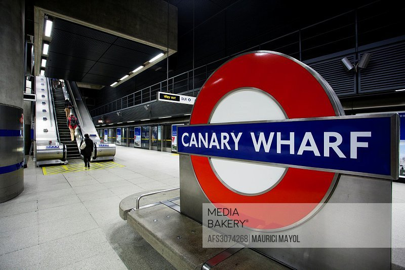 Canary wharf underground station sign