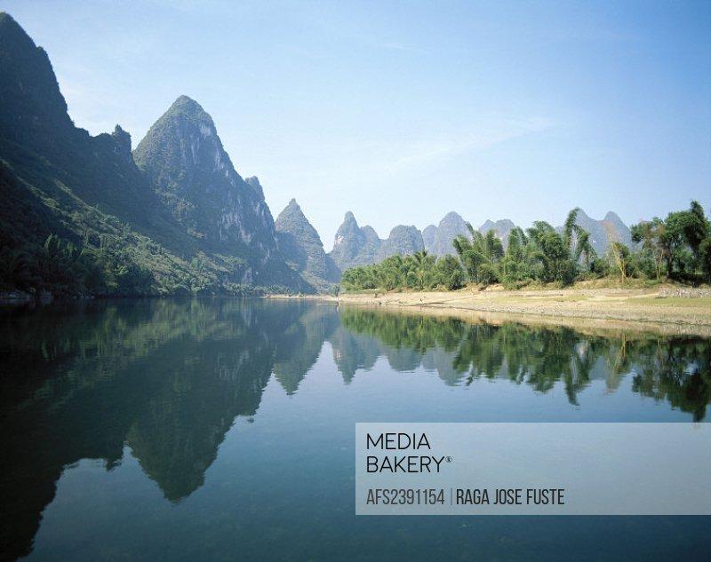 10376618, mountains, China, Asia, river, flow, Li, Guangxi, Guilin District, scenery, reflection,