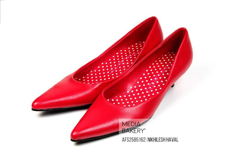 Pair red stiletto shoes