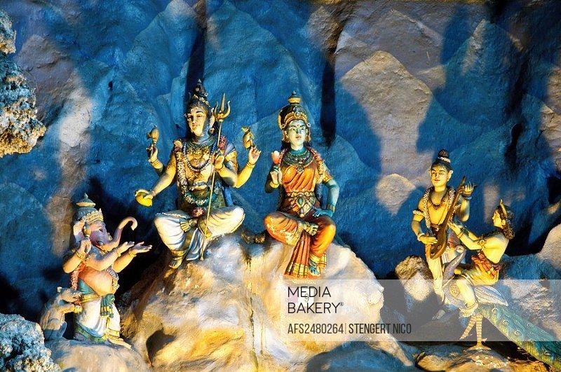 Asia, destination, Batu, lighting, sculpture, Caves, detail, fable being, cliff, cliff lump, rock, cliff, cliff wall, figures, rock, faith, Hinduism, ...