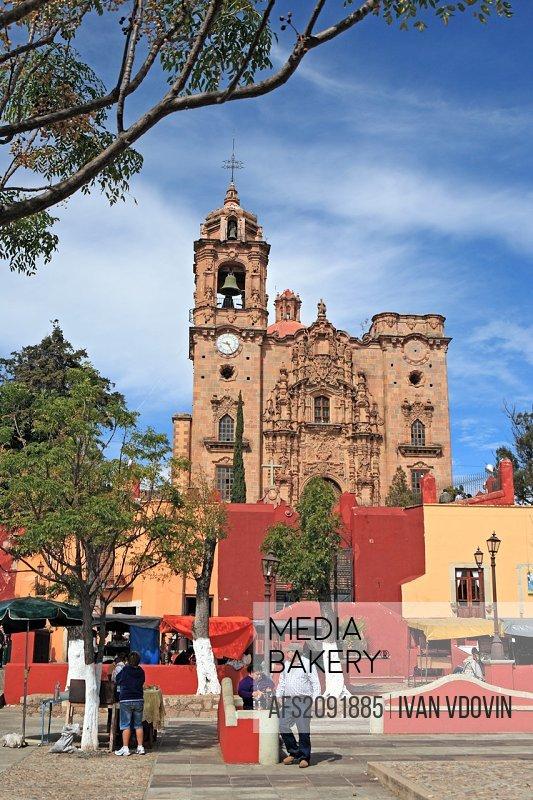 San Cayetano church 1788, Mineral de Valenciana, state Guanajuato, Mexico