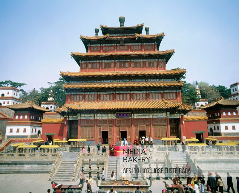 Puning Si (Temple of Universal Tranquility), Chengde. Hebei province, China