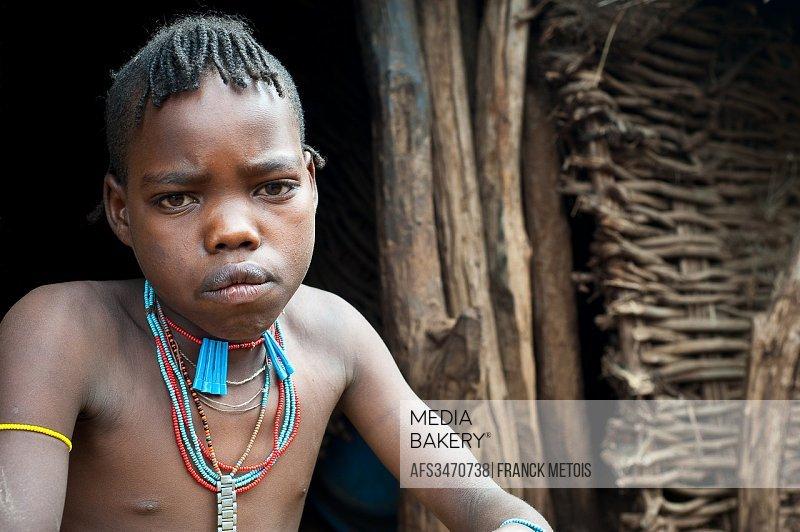 Boy belonging to the Banna tribe. Omo valley ( Ethiopia).