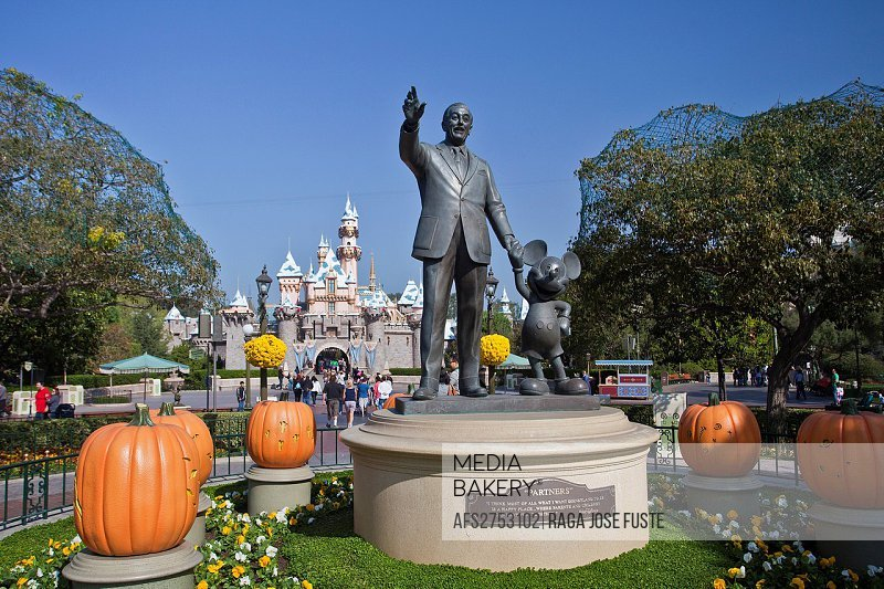 USA, United States, America, California, Los Angeles, City, Walt Disney, Park, Mickey Mouse, statues, dream, Disney, Halloween, monument, playground, ...
