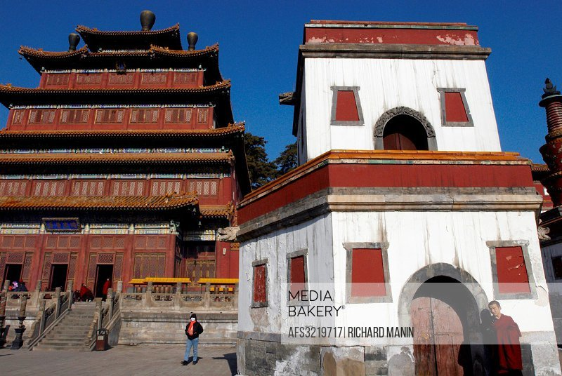 China, Hebei Chengde, summer residence of the Manchu Emperors of the early Qing Dynasty, Puning Si temple, the temple of universal peace built during ...