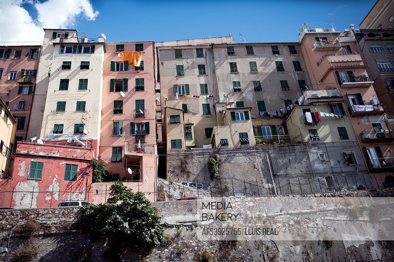 Residential buildings. Genova, Italy