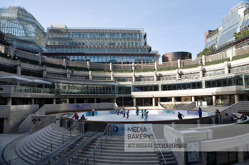 Broadgate Circle in the heart of Broadgate complex, London  Complete with outdoor ice skating rink during the winter months