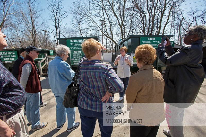 Troy, Michigan - An Earth Day tour of the recycling facilities at the Southeastern Oakland County Resource Recovery Authority. The Authority collects ...