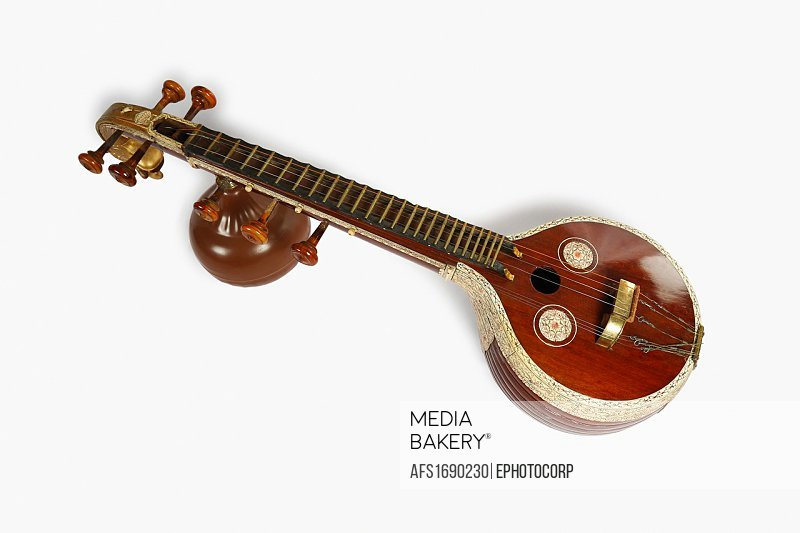 Saraswati vina or Saraswathi veena. Musical instrument. India.