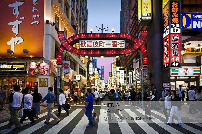 Japan, Tokyo City, Shinjuku East Side, Kabukicho Entertainment District,