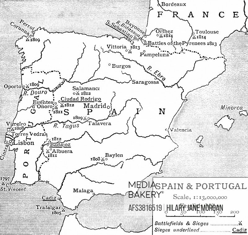 Map Of Spain 1930.Mediabakery Photo By Age Fotostock Map Of Spain And Portugal At