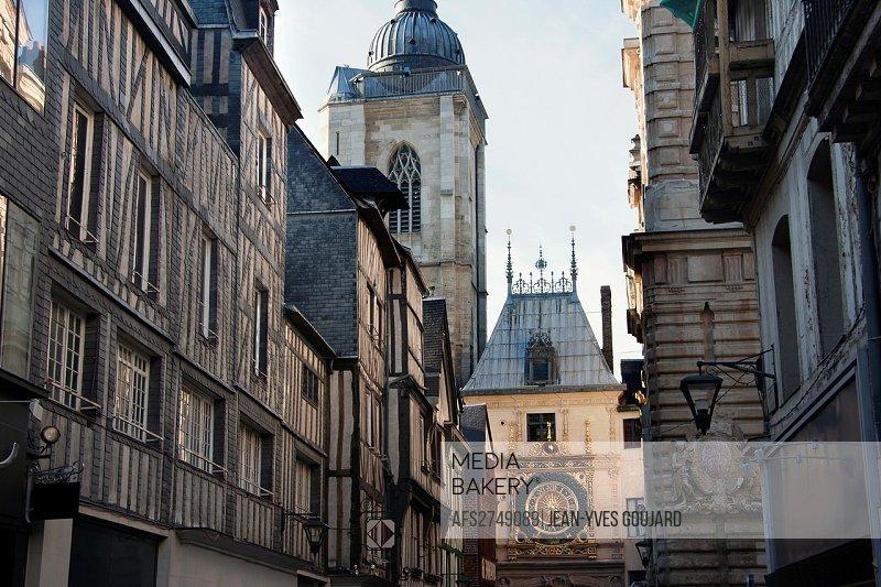 Rouen, Gros Horloge street, Normandy, France