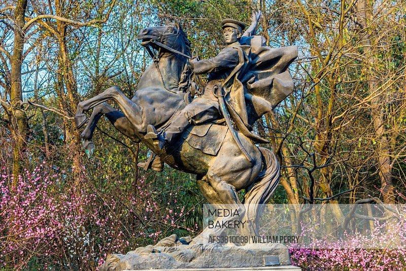 Cadet Horse Statue West Lake Hangzhou Zhejiang China .