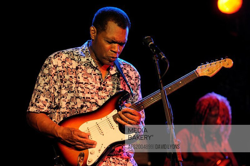 Robert Cray, US blues singer rock musician performing in the main stage marquee  Maryport Blues Festival, 2010  Cumbria, England
