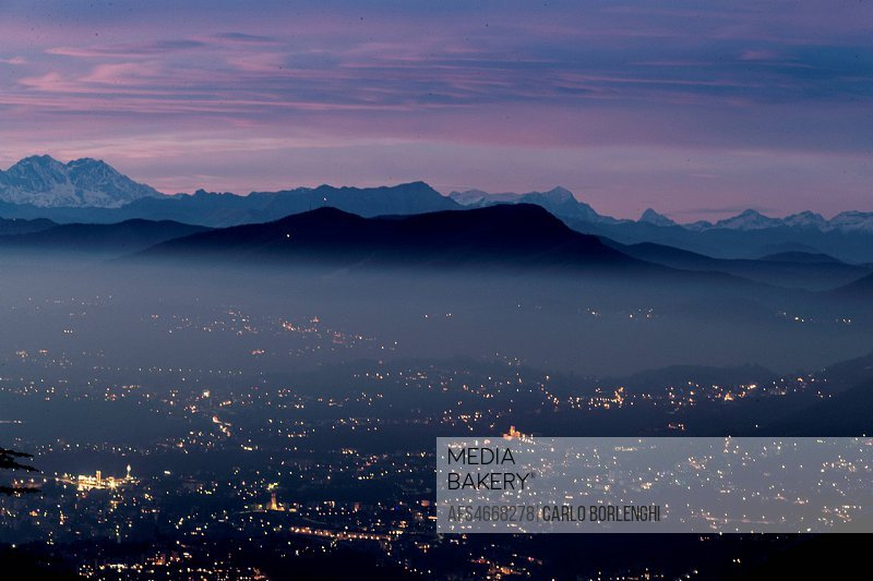 Landscape from Brunate, Como, Como Lake, Lombardy, Italy, Europe