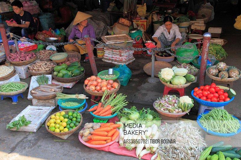Vietnam, Hoi An, market, food, produce, people,.