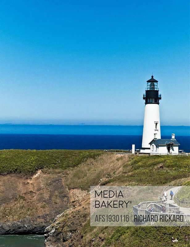 Yaquina Bay Lighthouse. Oregon, Usa