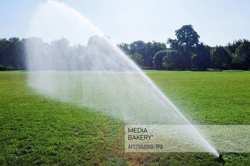 England, London, Regents Park, Watering System