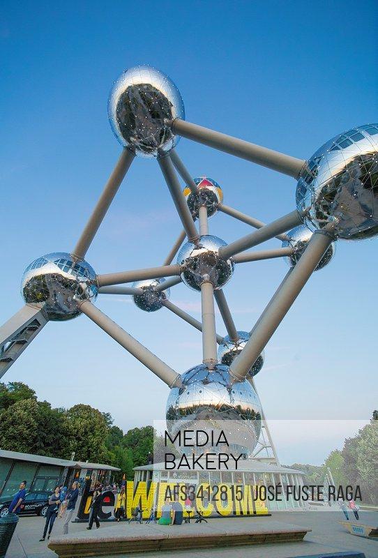 Belgium, Brussels City, the Atomium.