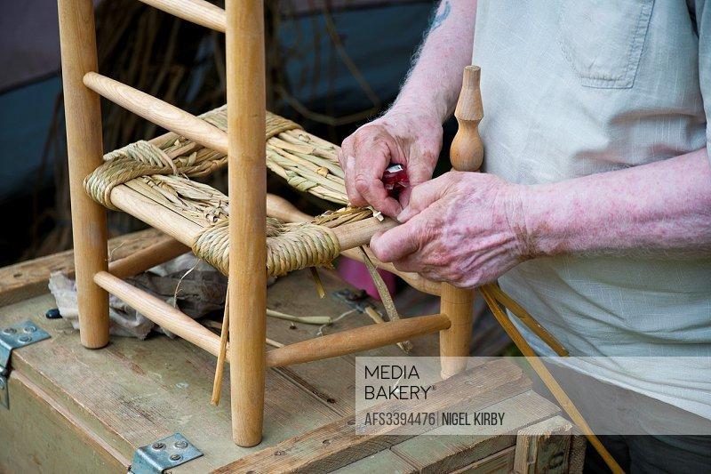 Traditional Rush Bottom Chairmaking.